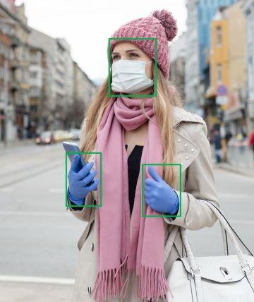 Hygieneausrüstung-Handschuhe-Atemmaske-360Videoanalyse: Prüfung nach Handschuhen und Mundschutz